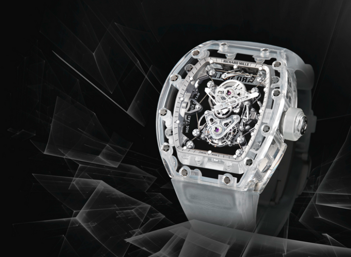 Richard Mille skeletonized rare tourbillon wristwatch rm56-02 in an auction selling Richard Mille watches