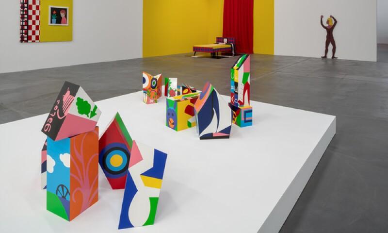 Teresa Burga: Aleatory Structures, exhibition view Migros Museum für Gegenwartskunst