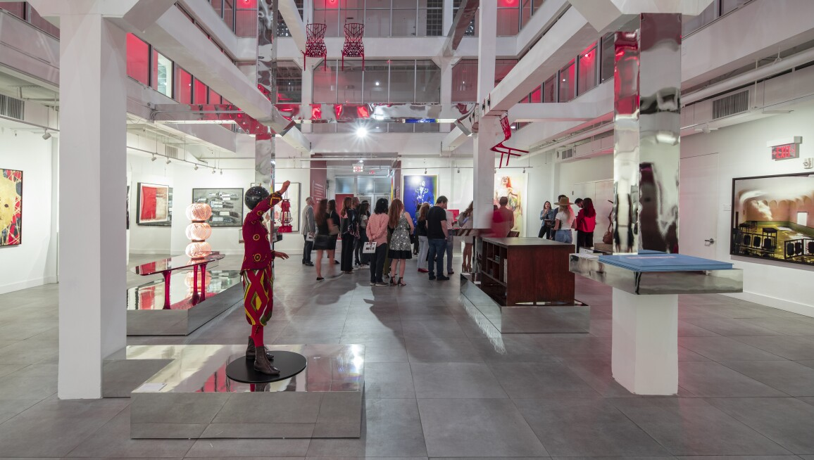 Red Exhibition for Miami Design District Photo by Robin Hill
