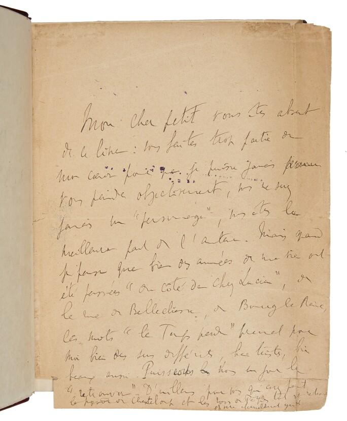 Marcel Proust page from Du côté de chez Swann