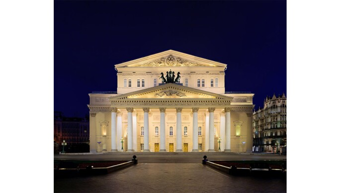 Bolshoi Theatre at night