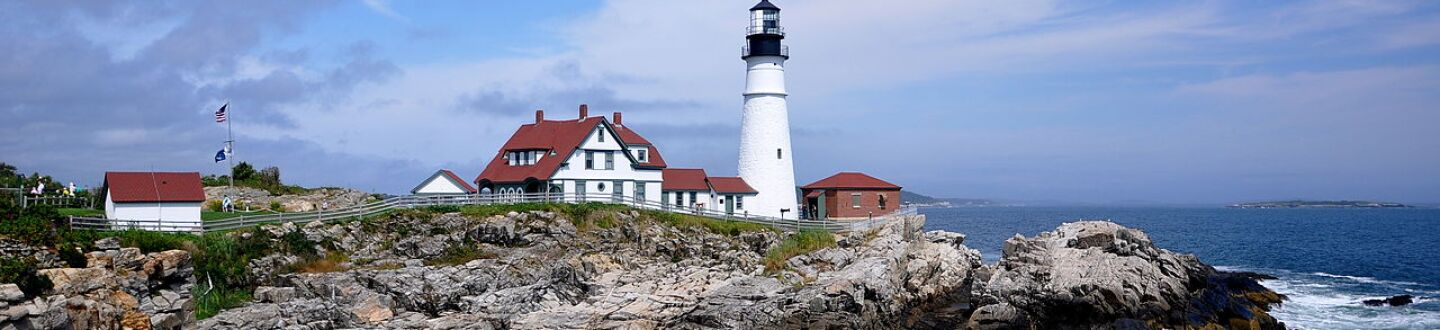 Exterior view of Portland Head Light.