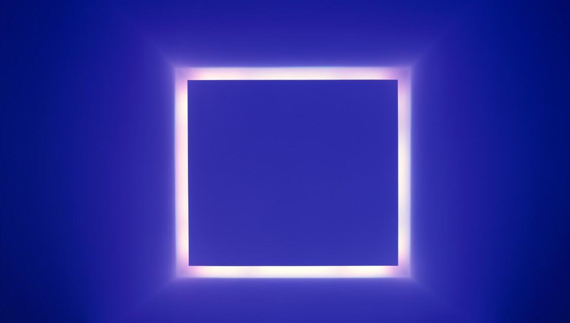 Penumbra, from the Window series, James Turrell, 1992, light installation