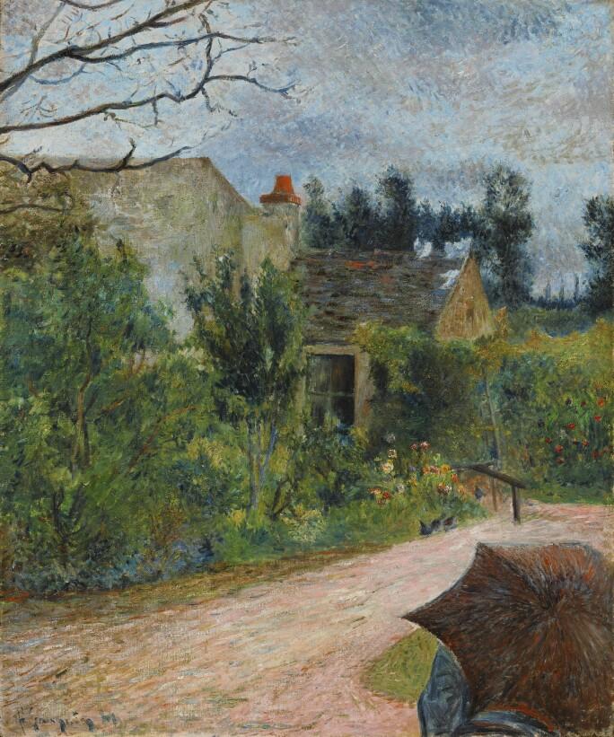 Paul Gauguin, le jardin de Pissarro, quai du Pothuis (recto).jpg