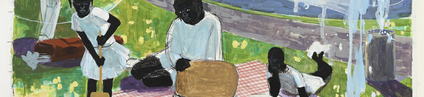 Kerry James Marshall, Study for Past Times, 1997. Estimate $900,000–1,200,000.