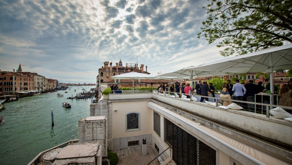 Breakfast reception on the terrace of the Peggy Guggenheim Collection