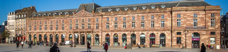 Exterior view of Aubette 1928 in Strasbourg.