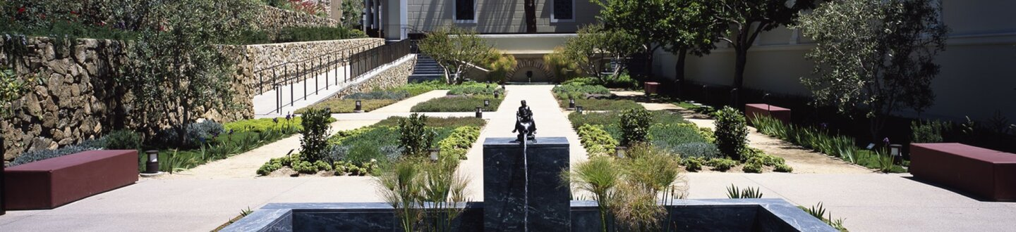 Exterior View,  J Paul Getty Museum at the Getty Villa