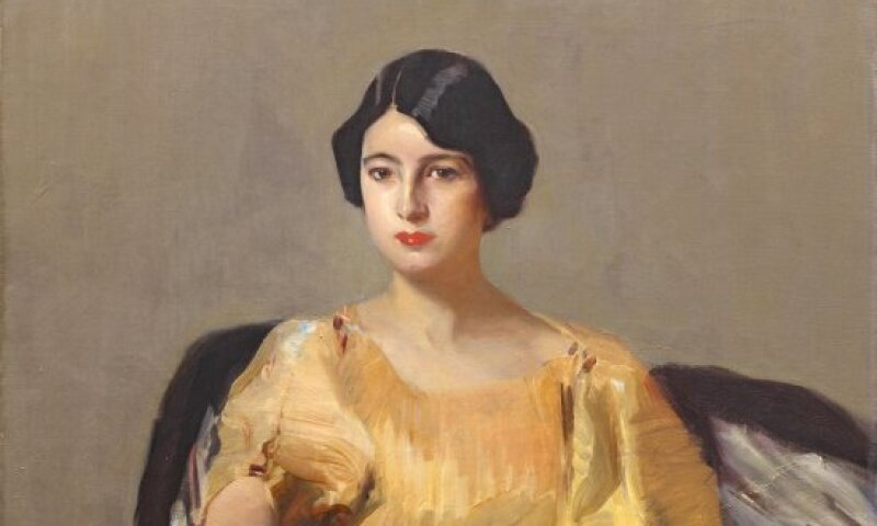 Elena in a yellow robe