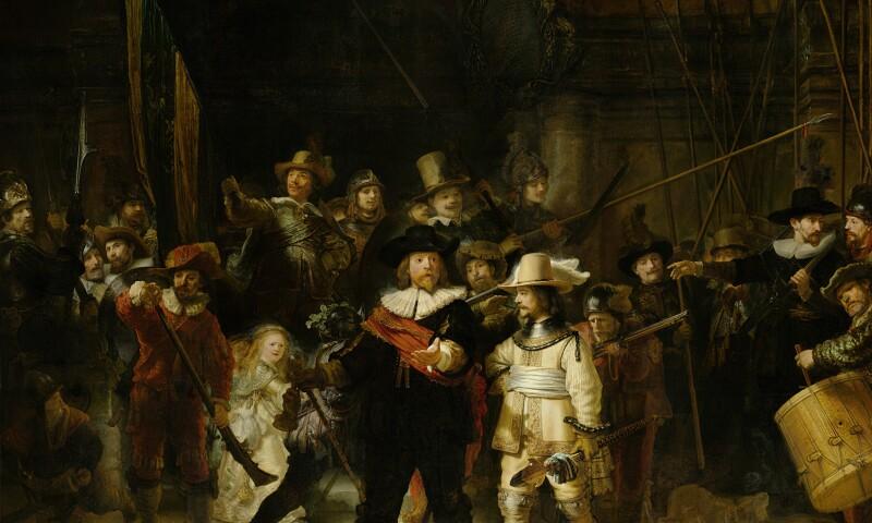 Rembrandt van Rijn, Schutters van wijk II onder leiding van kapitein Frans Banninck Cocq, bekend als de Nachtwacht, 1642.jpg