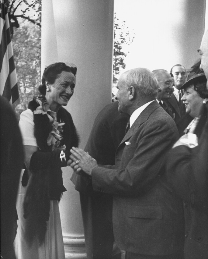 Duchess of Windsor on their first official visit to the US
