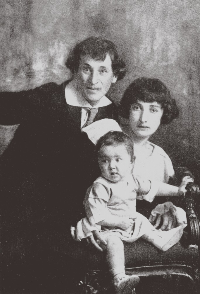 Marc Chagall with his first wife Bella and daughter Ida.