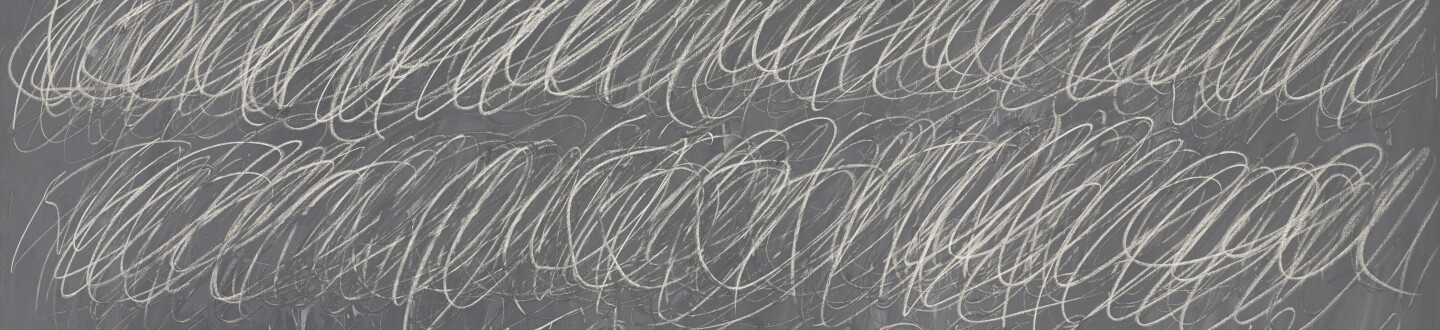 Cy Twombly chalk painting in an auction selling contemporary art