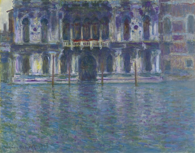 An impressionist painting of a Venetian building.