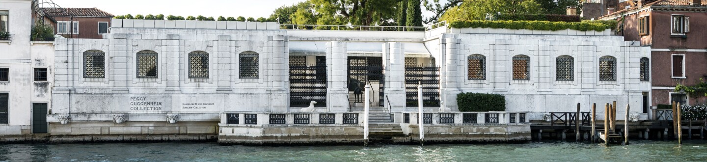 The exterior of the Peggy Guggenheim Collection