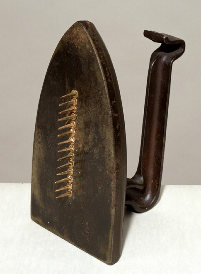 Cadeau 1921, editioned replica 1972 by Man Ray 1890-1976