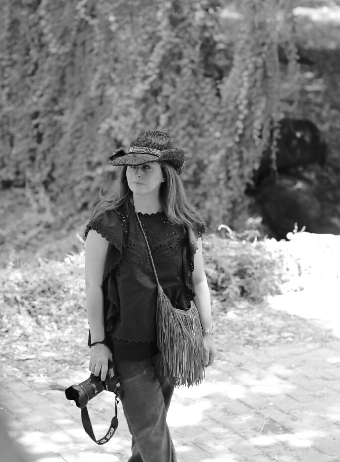 Maryam Eisler on location