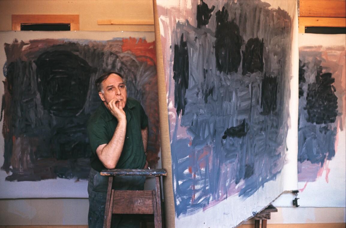 Philip Guston in his Maverick Road studio in Woodstock, New York