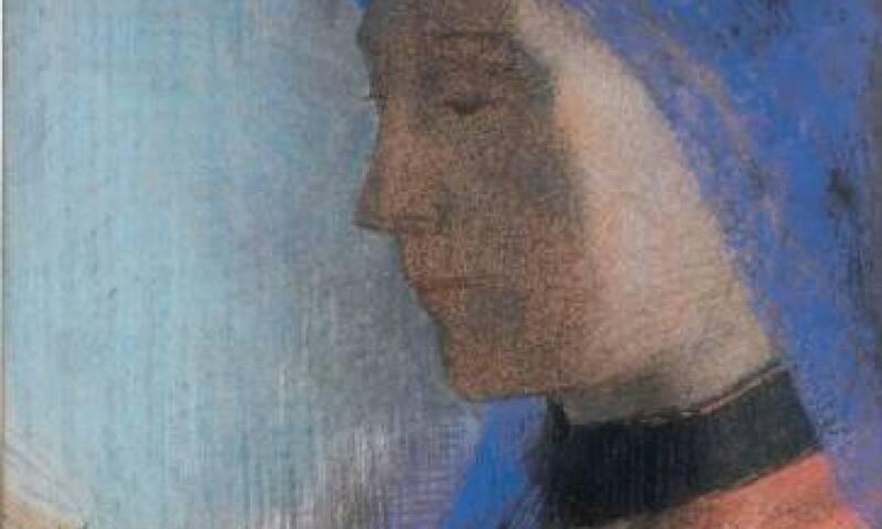 Odilon Redon, La liseuse, 1895-1900, private collection, Hommage à Goya (album with 6 lithographs),