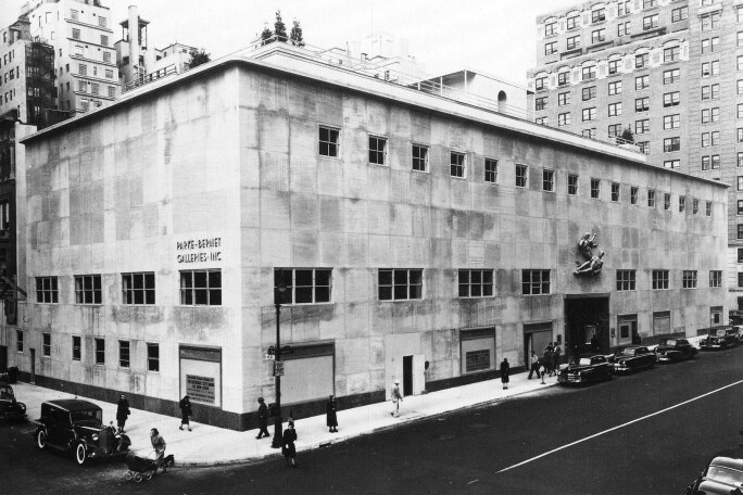 The Parke-Bernet galleries at 980 Madison Avenue, mid-20th century