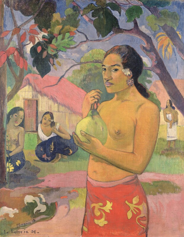 Paul Gauguin, Eü haere ia oe (Woman Holding a Fruit), 1893.