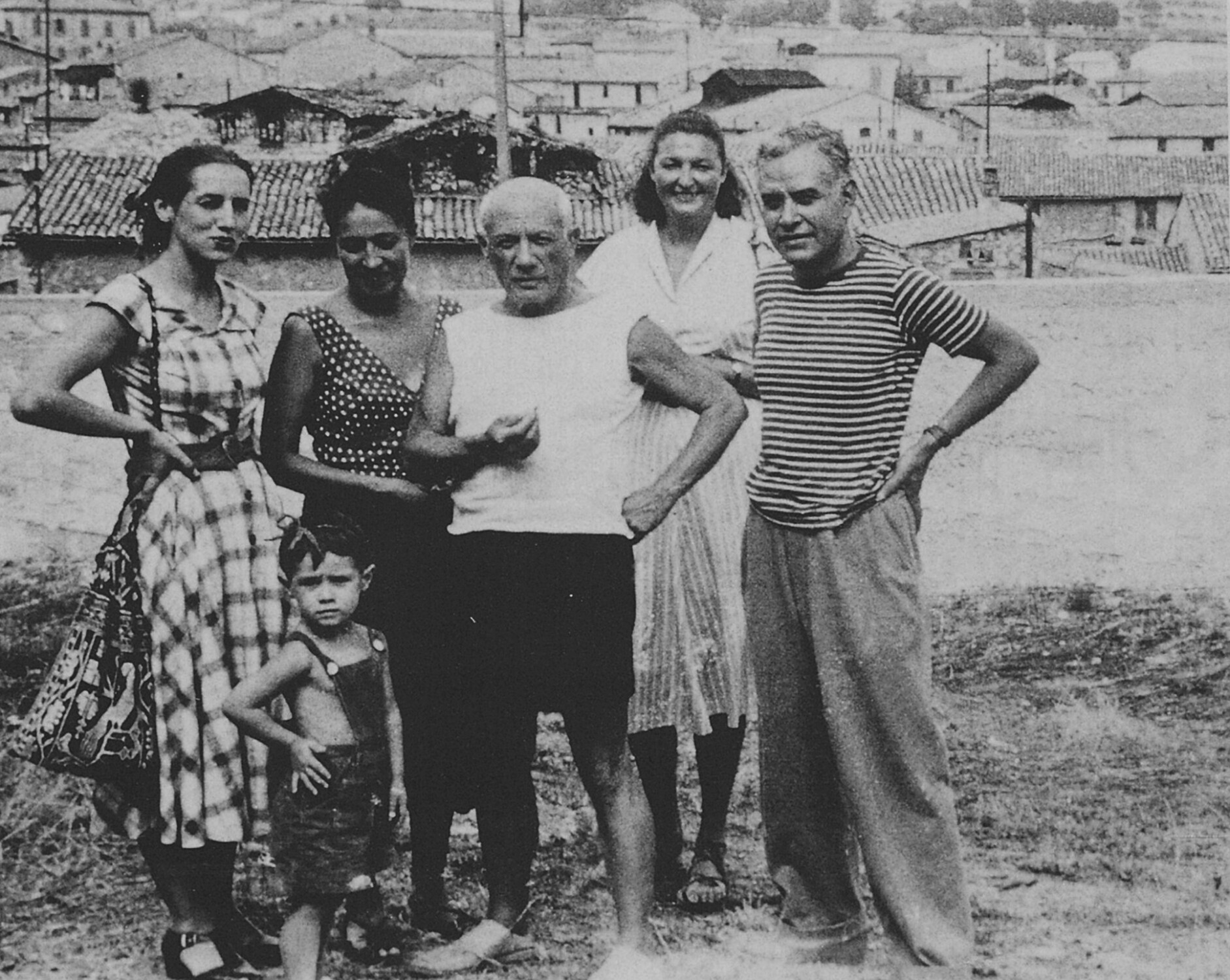 Rufino and Olga Tamayo with Pablo Picasso and family, 1949.
