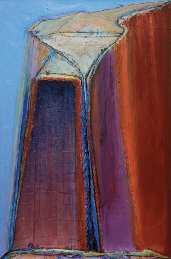 Thiebaud-mountain-split-ldf.jpg. Wayne Thiebaud ... - Wayne Thiebaud On California & His Favorite Dessert |Contemporary