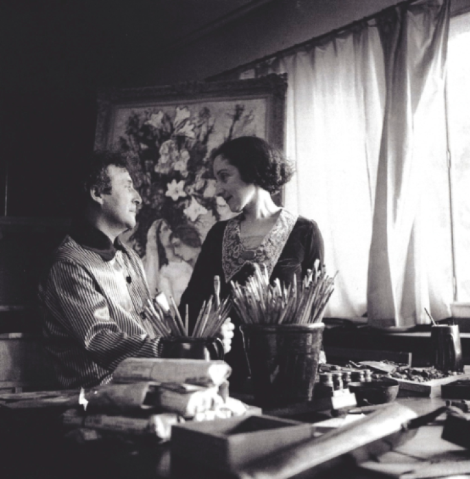 Marc and Bella Chagall in Paris in 1934 ©Archives Marc et Ida Chagall, Paris.png