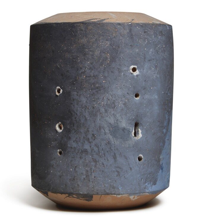 Lucio Fontana, Untitled, 1958. Painted terracotta incised with the artist's signature and date 58.