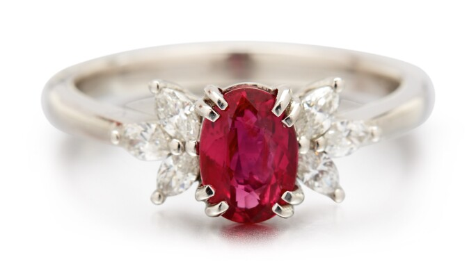 Ruby and diamond ring. Estimate £2,000–3,000