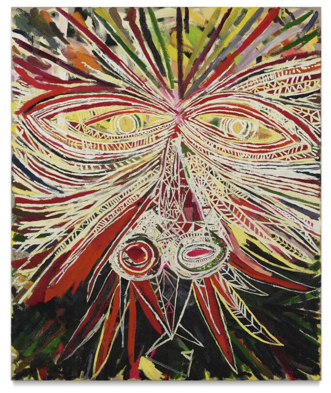 Mark Grotjahn, Face No. 1, 2004. Estimate $3,000,000–5,000,000.