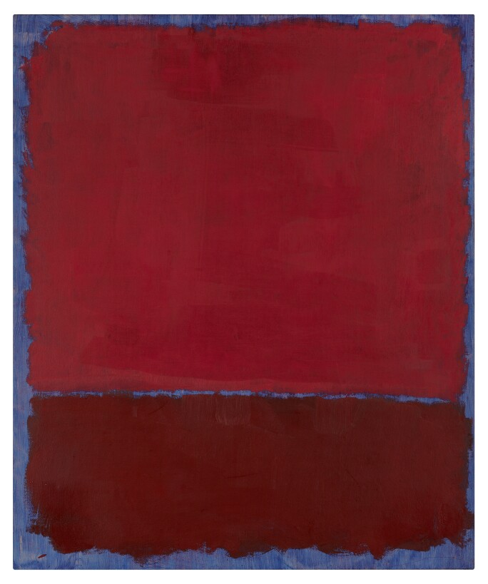 Mark Rothko, Untitled (Red and Burgundy Over Blue)