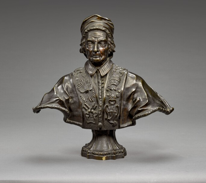 Attributed to Carlo Francesco Mellone, Attributed to Giacomo Antonio Giardini, Bust of Pope Clement XII. Estimate £10,000-15,000.