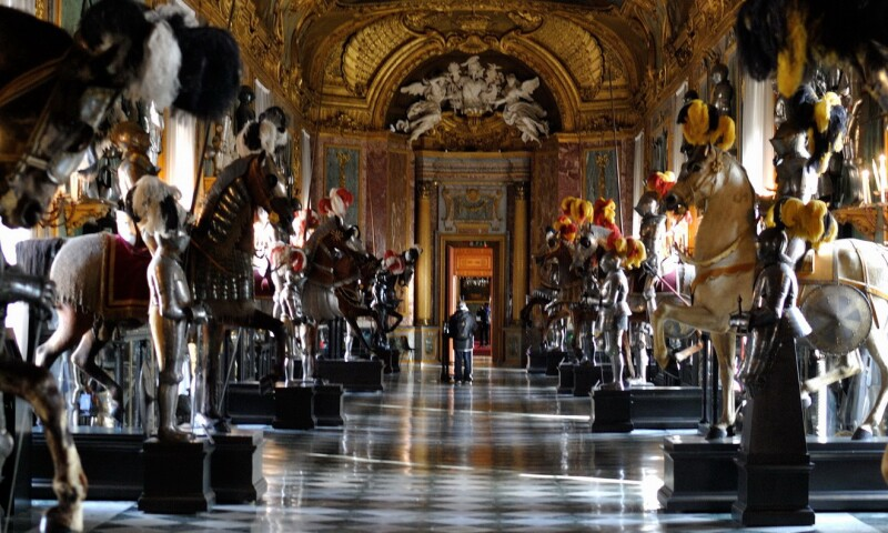 Interior view of the Galleria Beaumont at the Royal Palace of Turin.
