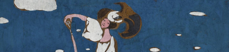 Lot 177, Wassily Kandinsky, Entwurf für eine Affiche einer franzosischen Brauerei (Sketch for a Poster for a French Brewery), gouache on paper, circa 1906-07, Impressionist & Modern Art Day Sale November 13th, 2018, estimate $ 250,000-350,000.jpg