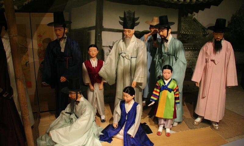Interior view of the National Folk Museum of Korea.