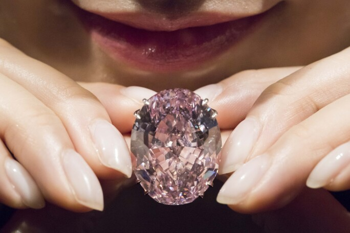 Sotheby's media preview of The Pink Star
