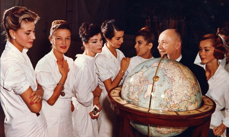 Christian Dior with models