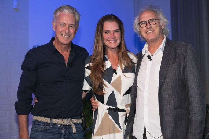 David Kratz, Brooke Shields and Eric Fischl