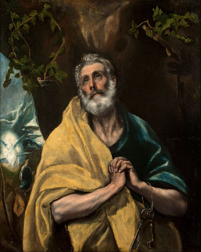 El_Greco_-_Saint_Peter_in_Tears painting