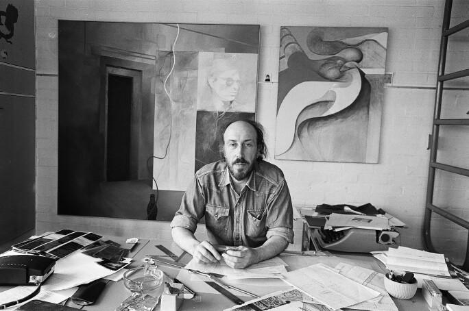 Richard Hamilton In Highgate Studio