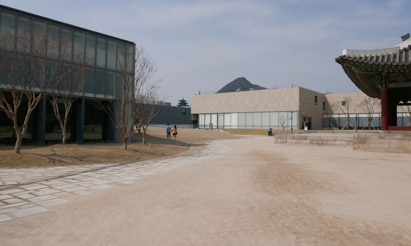 View of the Museum of Modern and Contemporary Art, Seoul. Also showing a view of the courtyard.