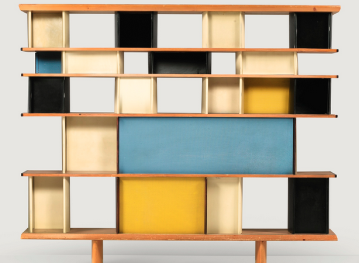 Bauhaus bookcase by Charlotte Perriand in an auction selling vintage furniture