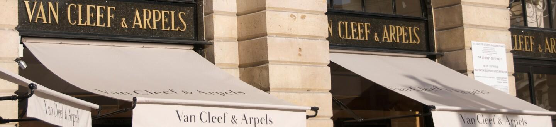 Van Cleef and Arpels shop in Place Vendome, Paris, France