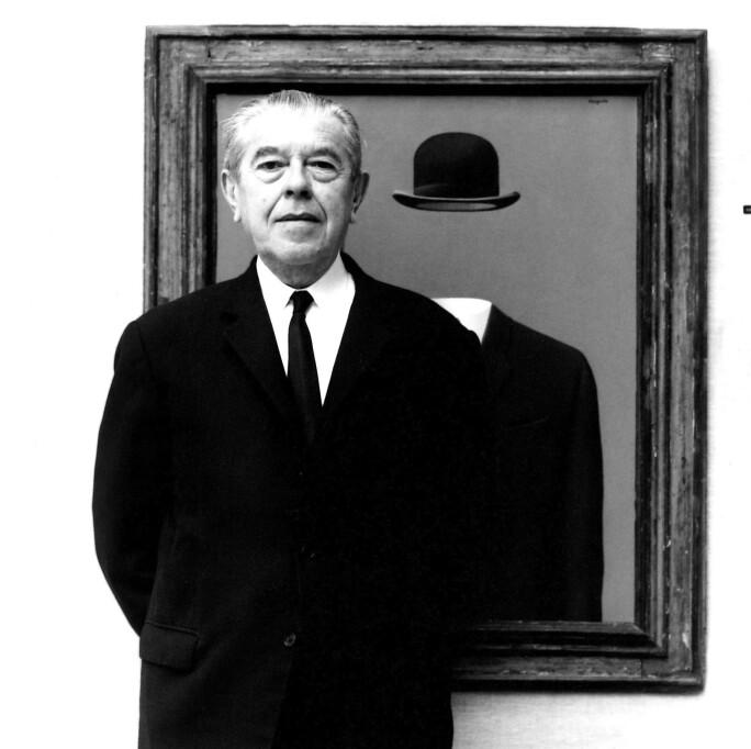 Rene Magritte, c.1965-67 (b/w photo)