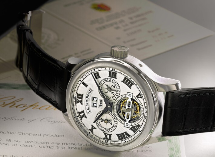 Chopard Tourbillon watch for men in an auction selling chopard watches