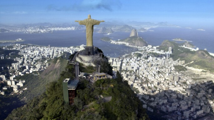 Christ the Redeemer Monument in Rio De Janeiro in Brazil
