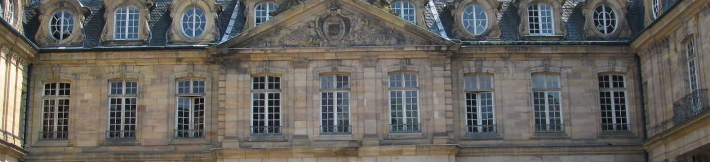 Exterior view of the Palais Rohan, home of the Musée Archéologique of Strasbourg.