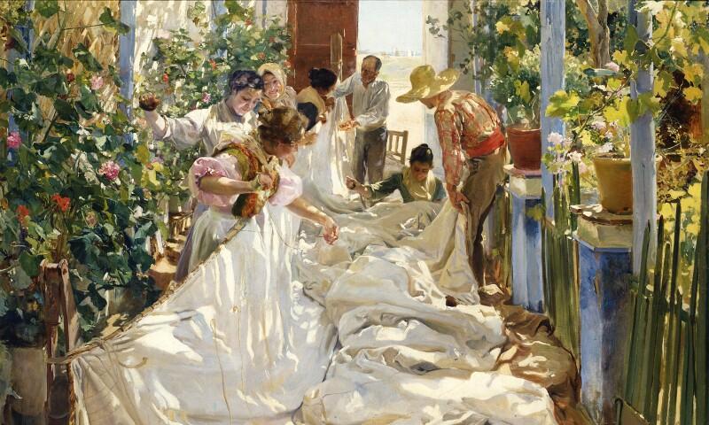 Sewing the Sail (Cosiendo la vela), 1896