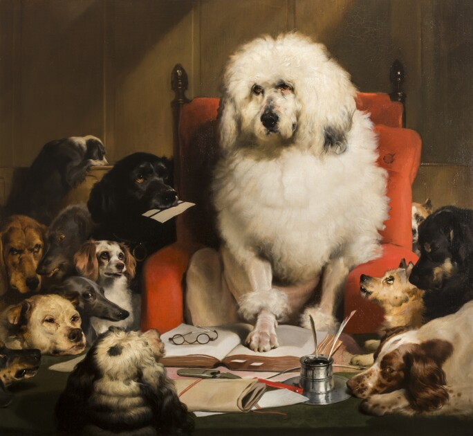 Laying Down The Law (or Trial by Jury)  by Sir Edwin Henry Landseer. Image: Devonshire Collection, Chatsworth.Reproduced by permission of Chatsworth Settlement Trustees.